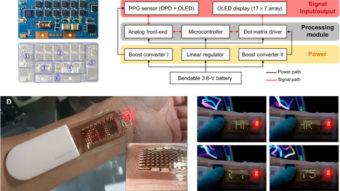Samsung demonstra tela OLED esticável em monitor cardíaco