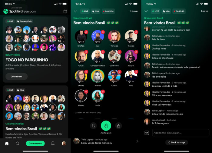 Spotify Greenroom (Imagem: reprodução/Spotify Greenroom)