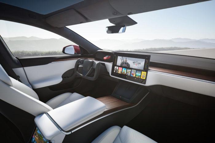 Interior do Tesla Model S (Imagem: divulgação/Tesla)