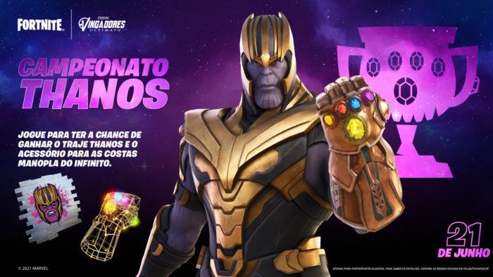 Campeonato Thanos dá a skin do supervilão da Marvel de graça (Imagem: Divulgação/Epic Games)
