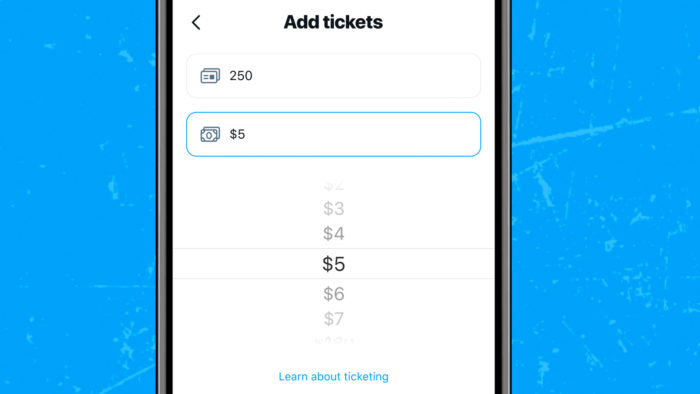 Tickets do Twitter Spaces podem variar entre R$ 5 ou acima de R$ 4 mil (Imagem: Twitter/ Divulgação)