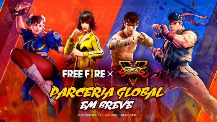 Free Fire e Street Fighter unem forças (Imagem: Divulgação/Garena)
