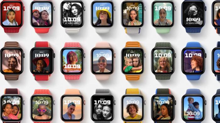 Foto em modo retrato no watchOS 8 (Imagem: divulgação/Apple)