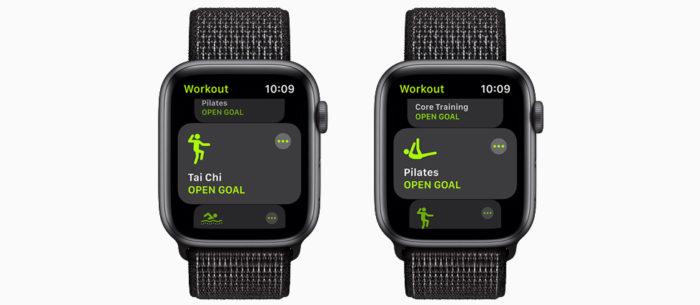 Tai Chi e Pilates no watchOS 8 (Imagem: divulgação/Apple)
