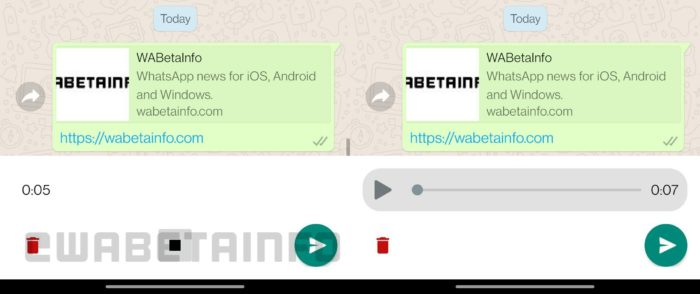 WhatsApp trabalha em função para revisar áudios antes de serem enviados (Imagem: Reprodução/WABetaInfo)