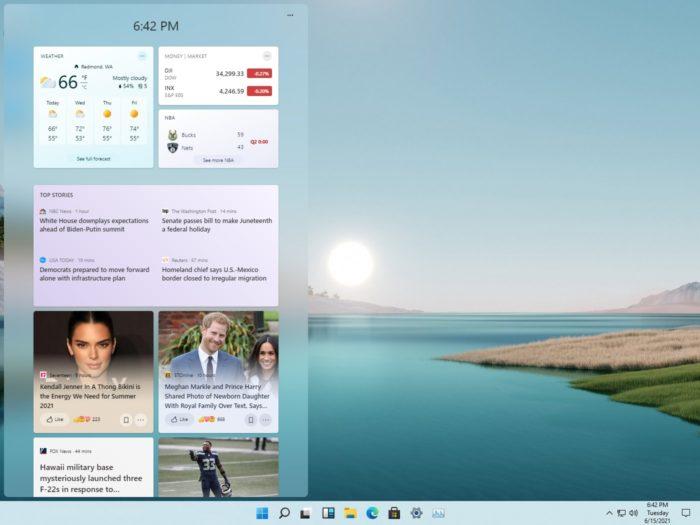 Área de widgets do Windows 11 (imagem: Rafael Rivera)