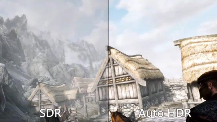 Auto HDR em jogo no Windows 11 (Imagem: Reprodução / Microsoft)