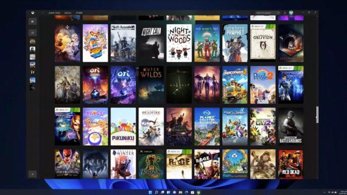 Jogos no Windows 11 (Imagem: Reprodução / Microsoft)