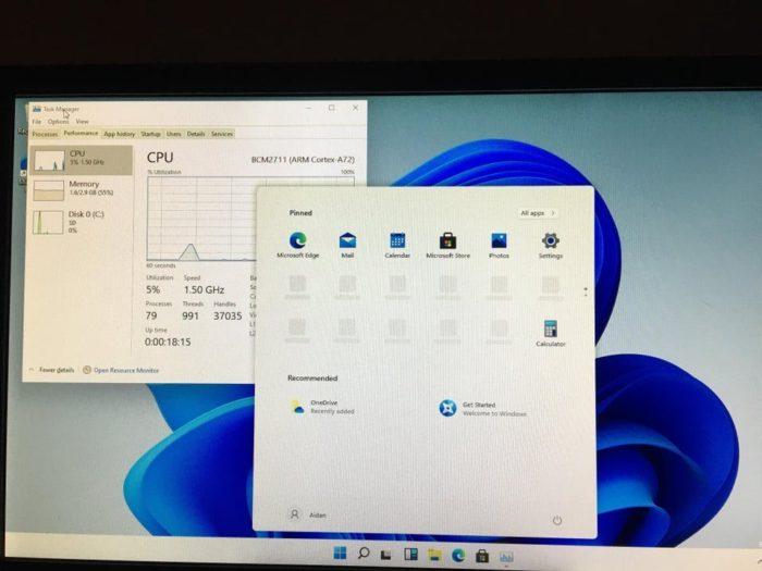 Windows 11 no Raspberry Pi 4 (Imagem: Reprodução)