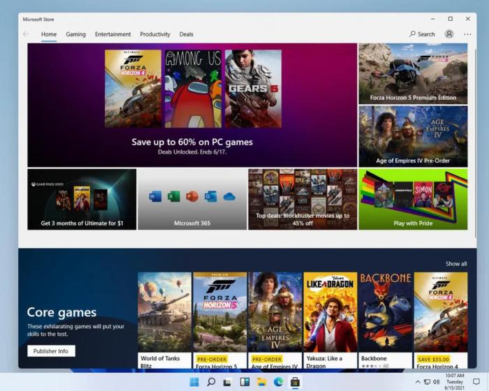 Microsoft Store no Windows 11 (Imagem: Reprodução/The Verge)