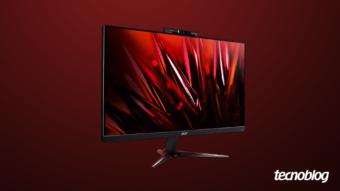 Acer Nitro VG240Y D: monitor gamer básico com webcam embutida