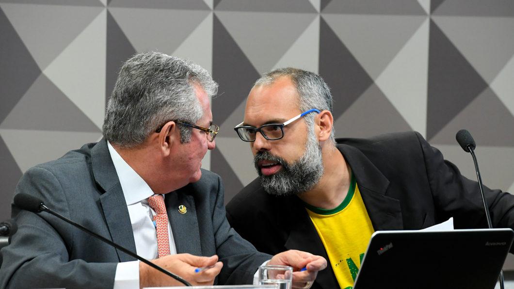 Blogger Allan dos Santos speaks to the CPI of Fake News (Image: Roque de Sá - Agência Senado/ Flickr)