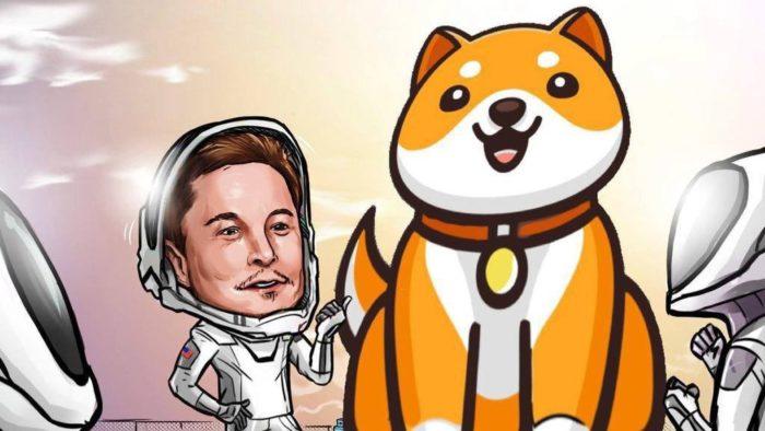 Conta oficial no Twitter do baby doge coin divulgou ilustração com Elon Musk (Imagem: Reprodução/Twitter)