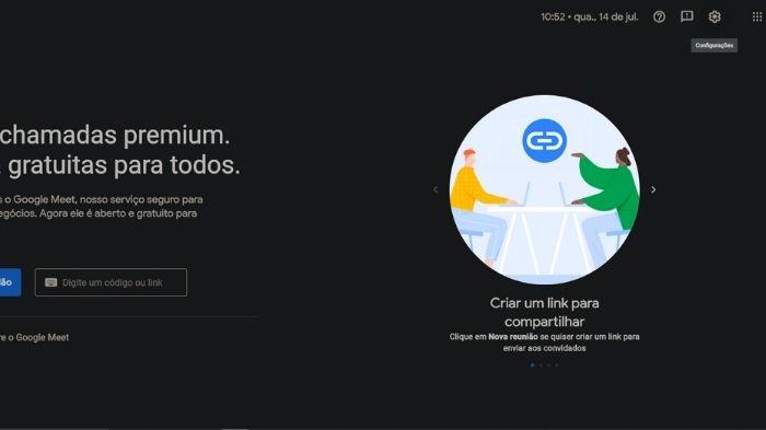 Como mudar a camera e microfone do Google Meet (Imagem: Leandro Kovacs/Reprodução)