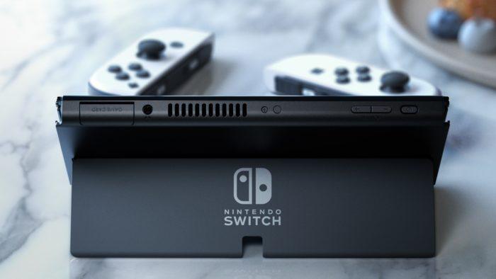 O novo stand do Nintendo Switch (Imagem: Divulgação/Nintendo)