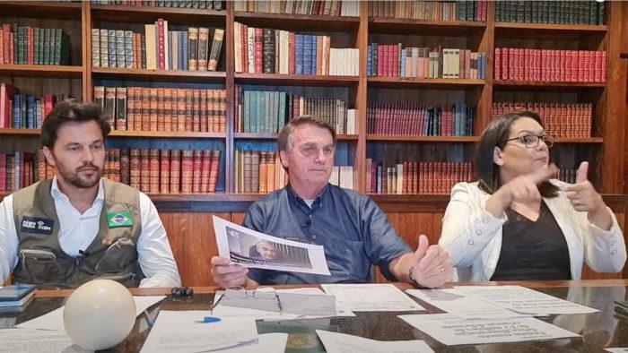 Live de Bolsonaro do dia 24/06 (Imagem: Reprodução)