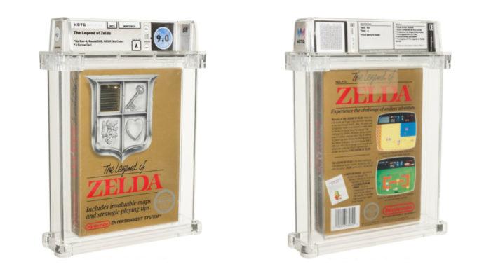 Cartucho raro de The Legend of Zelda vendido por US$ 870 mil (Imagem: Divulgação/Heritage Auctions)