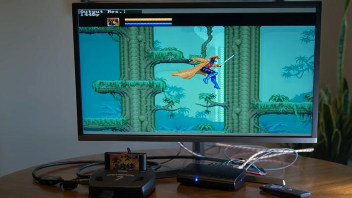 X-Men rodando no Mega Drive com Retrotink 5X-Pro (Imagem: RetroRGB / YouTube)