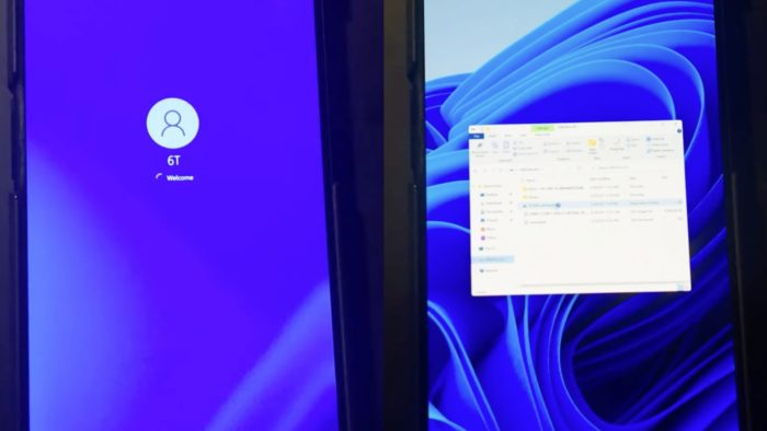 Windows 11 no OnePlus 6T (Imagem: Reprodução / YouTube)