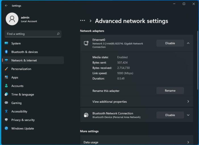 Configurações de rede no Windows 11 (Imagem: Reprodução/Windows Latest)