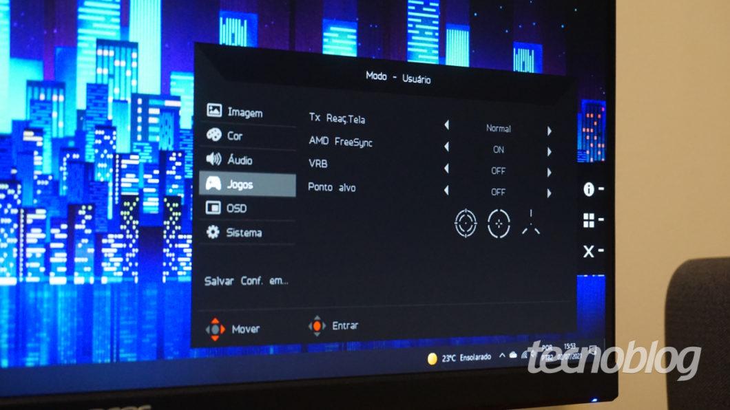 Acer Nitro VG240Y D (Imagem: André Fogaça/Tecnoblog)
