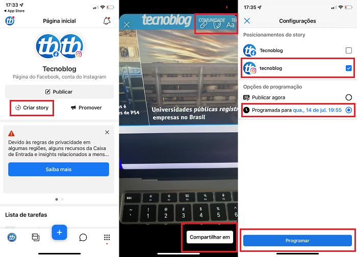 Como agendar stories no Instagram [Computador e celular] / Facebook Business Suite / Reprodução