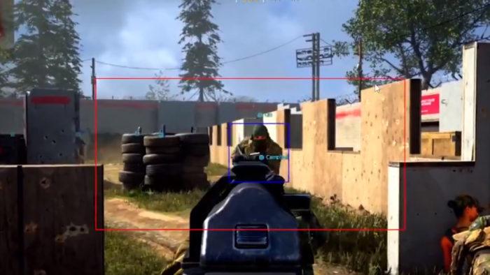 User Vision Pro em Call of Duty: Warzone (Imagem: Reprodução/Twitter @AntiCheatPD)