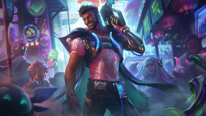 Skin Akshan Ciberpop, de League of Legends (Imagem: Divulgação/Riot Games)
