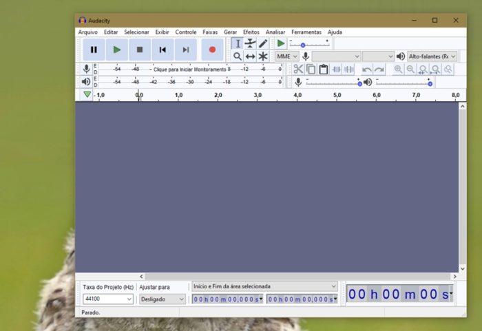 Audacity 3.0.2 para Windows (imagem: Emerson Alecrim/Tecnoblog)
