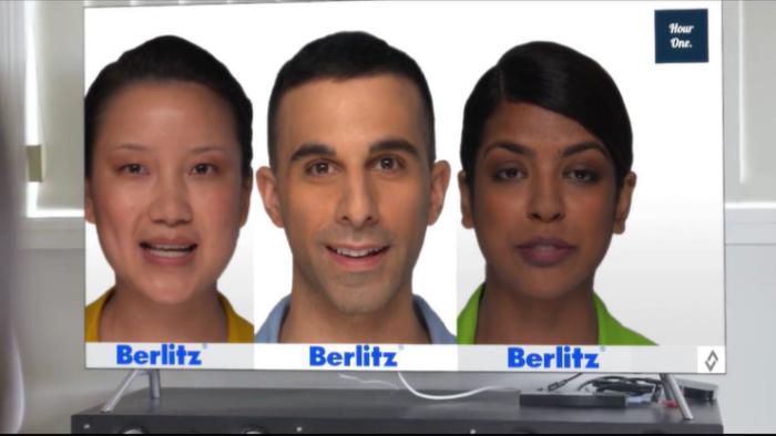 Instrutores virtuais da Berlitz (Imagem: Divulgação)