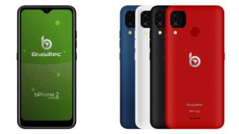 bPhone 2, 3 e 4 são celulares da Brasiltec com preço a partir de R$ 800