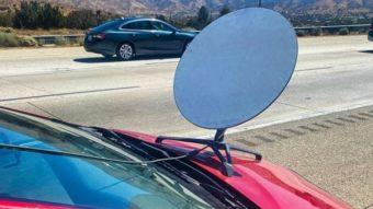 Antena da internet Starlink para veículos vai aguentar calor e frio extremos