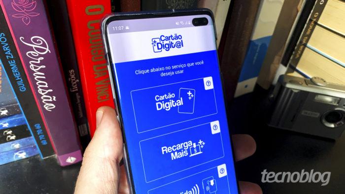 Cartão Digital Riocard Mais no celular (Imagem: Bruno Gall De Blasi/Tecnoblog)