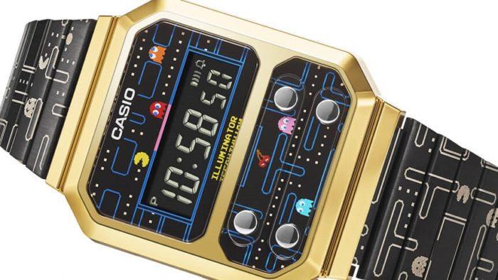 Relógio modelo A100WEPC (Imagem: Casio / Bandai Namco)