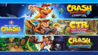 Crash Bandicoot comemora 25 anos com promoções nos consoles