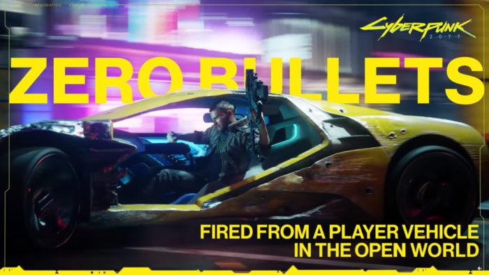 """""""Zero balas atiradas pelos jogadores dentro de carros no mundo aberto"""" faz piada com uma promessa quebrada pela CD Projekt Red (Imagem: Reprodução/Reddit BesterSpieler0)"""