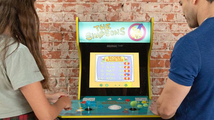 Fliperama de Os Simpsons da Arcade1Up (Imagem: Divulgação/Arcade1Up)