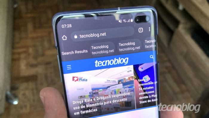 Google Chrome testa recurso para agilizar acesso a resultados de busca (Imagem: Bruno Gall De Blasi/Tecnoblog)