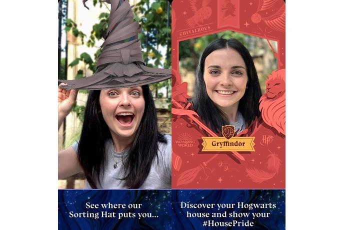 App Harry Potter Fan Club: teste o chapéu seletor (Imagem: Reprodução/Wizarding World Digital)