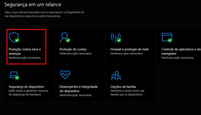 Processo para impedir que o Windows Defender envie arquivos para a Microsoft (Imagem: Reprodução/Windows 10)