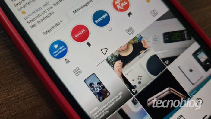 Instagram agora agrupa vídeos em aba dedicada no feed (Imagem: Ana Marques/Tecnoblog)