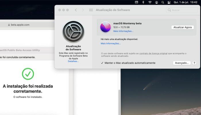 Download do macOS 12 Monterey (imagem: Emerson Alecrim/Tecnoblog)