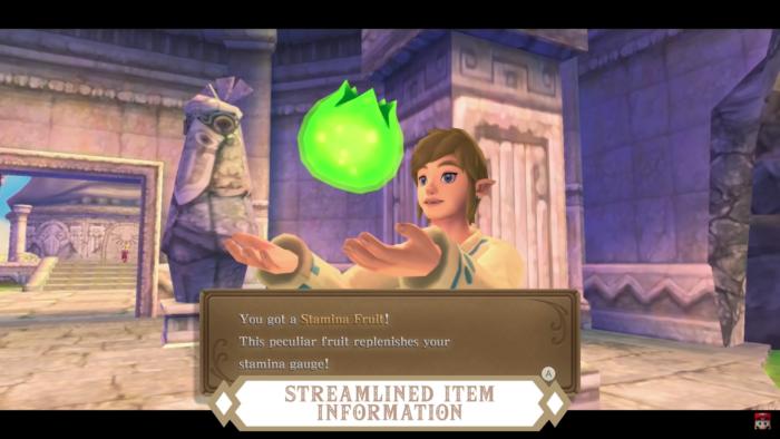 Itens em The Legend of Zelda: Skyward Sword HD (Imagem: Divulgação/Nintendo)