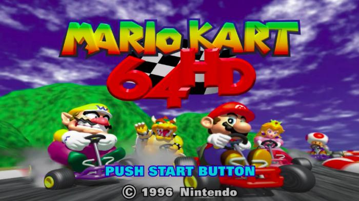 Mario Kart 64, agora em 4K (Imagem: Reprodução)