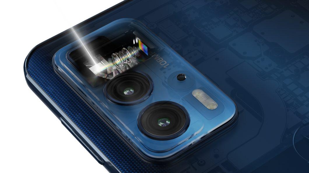 Motorola Edge 20 Pro tem câmera periscópio (Imagem: Divulgação/Motorola)