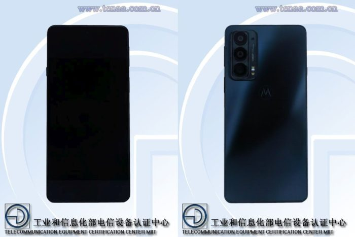 Suposto Motorola Edge 20 na documentação da TENAA (Imagem: Reprodução/Gizmochina)