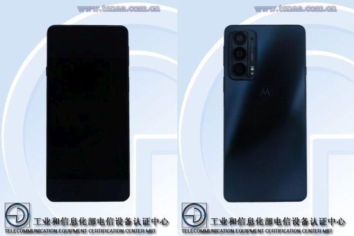 Supposedly Motorola Edge 20 in TENAA documentation (Image: Reproduction/Gizmochina)