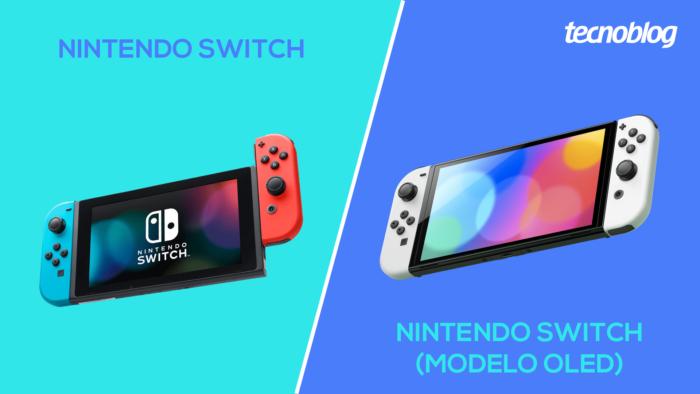 Nintendo Switch padrão ou modelo OLED, o que muda? (Imagem: Vitor Pádua/Tecnoblog)