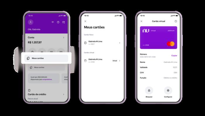 """App do Nubank ganha botão """"Meus Cartões"""" na tela inicial (Imagem: Divulgação/Nubank)"""