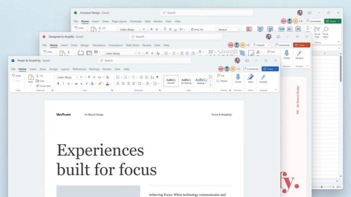 Novo design do Microsoft Office no Windows 11 (Imagem: Divulgação)